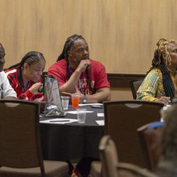 SACRAMENTO, Calif., April 8,  2019  Survivors Speak conference in Sacramento, Calif., April 8, 2019.  Photo by Ted Chin