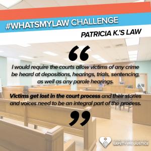 #WhatsMyLaw Patricia K